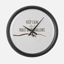 Keep Calm Marshmallows Large Wall Clock