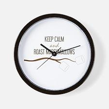 Keep Calm Marshmallows Wall Clock