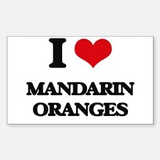 I Love Mandarin Oranges Decal
