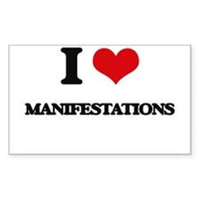 I Love Manifestations Decal