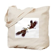 Funny Fighting eagle Tote Bag