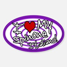 Hypno I Love My Spinone Italiano Sticker (Ovl) Prp