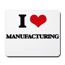 I Love Manufacturing Mousepad