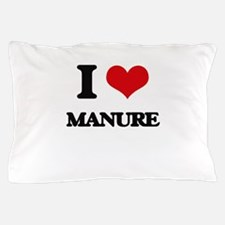 I Love Manure Pillow Case