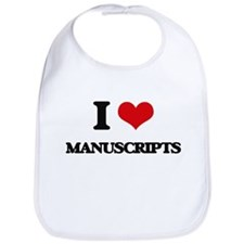 I Love Manuscripts Bib