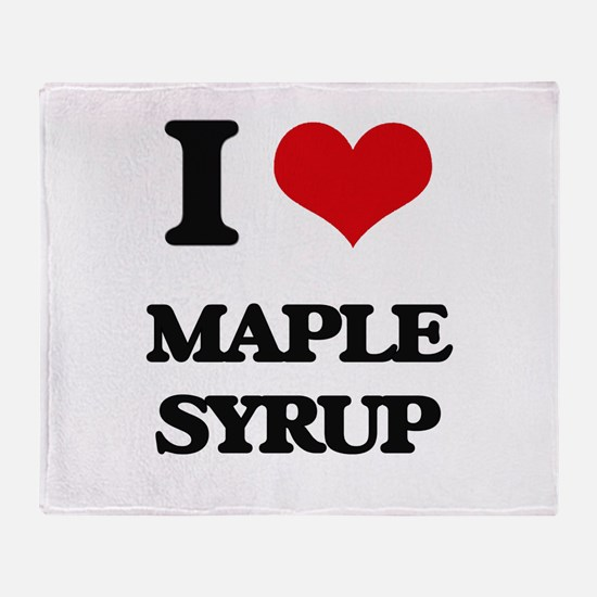 I Love Maple Syrup Throw Blanket