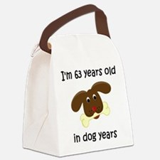 9 dog years 4 Canvas Lunch Bag