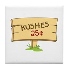 Kushes - Kisses Tile Coaster