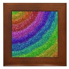 Glitters Rainbow Framed Tile