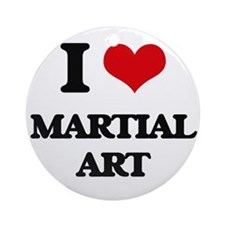I Love Martial Art Ornament (Round)