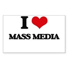I Love Mass Media Decal