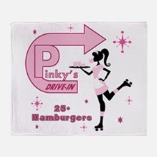 Pinky's Drive In-Retro Throw Blanket