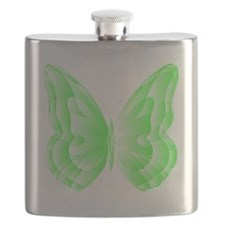 Green Butterfly Flask