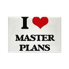 I Love Master Plans Magnets