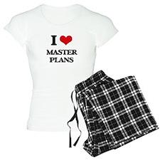 I Love Master Plans Pajamas