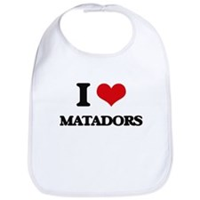 I Love Matadors Bib