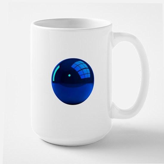 Reflective Blue Ball Large Mug