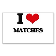 I Love Matches Decal