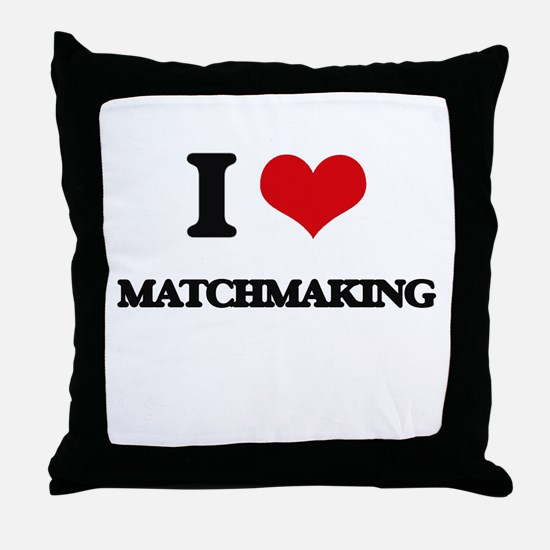 I Love Matchmaking Throw Pillow