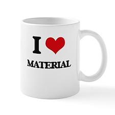 I Love Material Mugs