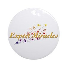 Expect Miracles Ornament (Round)