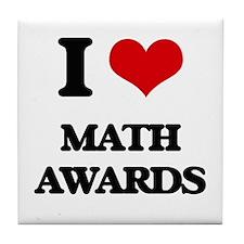 I Love Math Awards Tile Coaster