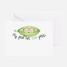 My pod has two peas... Greeting Cards (Package of