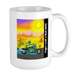 Large Mug shows cute image of Wild Willie Weed
