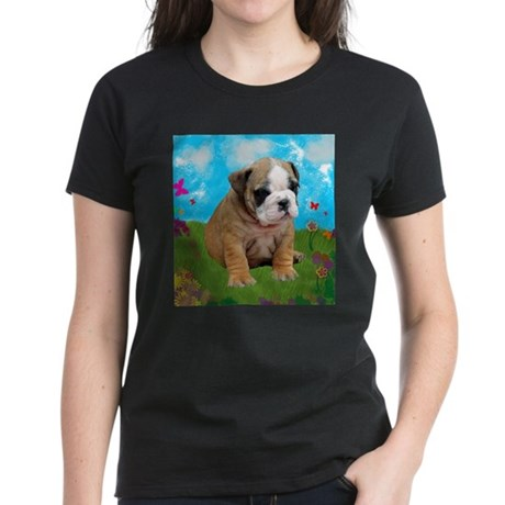 Puppy Dream Meadow Women's Dark T-Shirt
