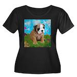 Puppy Dream Meadow Women's Plus Size Scoop Neck Da