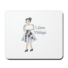 I LOVE VINTAGE Mousepad