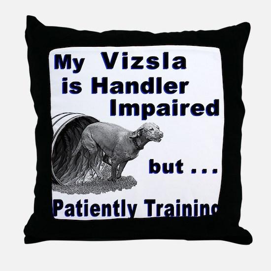 Vizsla Agility Throw Pillow