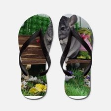 ebony chinchilla Flip Flops