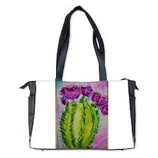 Purple cactus, southwest art Diaper Bag
