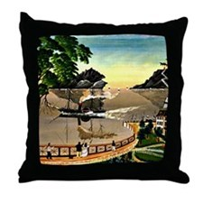 U.S. Mail Boat, 1885, painting Throw Pillow