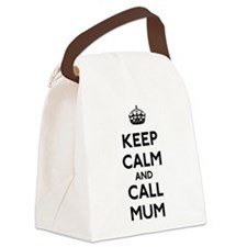 Keep Calm and Call Mum Canvas Lunch Bag