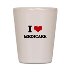 I Love Medicare Shot Glass