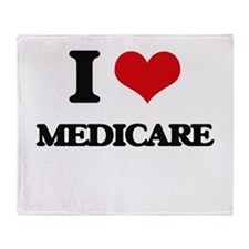 I Love Medicare Throw Blanket