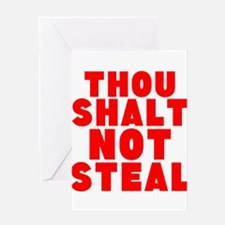 Thou Shalt Not Steal Greeting Cards