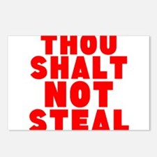 Thou Shalt Not Steal Postcards (Package of 8)