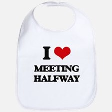 I Love Meeting Halfway Bib