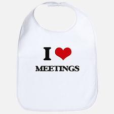 I Love Meetings Bib
