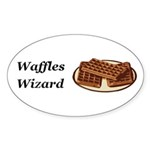 Waffles Wizard Sticker (Oval 50 pk)