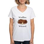 Waffles Wizard Women's V-Neck T-Shirt