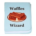Waffles Wizard baby blanket