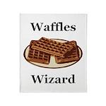 Waffles Wizard Throw Blanket