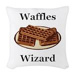 Waffles Wizard Woven Throw Pillow