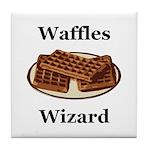 Waffles Wizard Tile Coaster