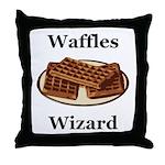 Waffles Wizard Throw Pillow