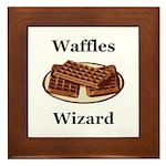 Waffles Wizard Framed Tile